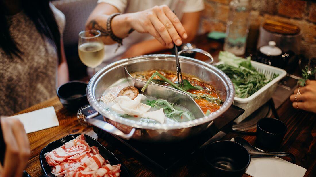 Hot Pot wird in China traditionell im Winter gegessen
