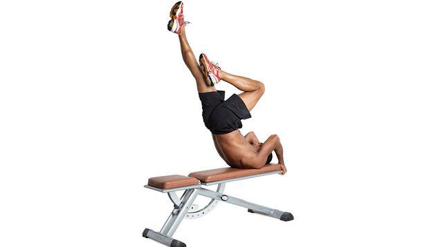 Hüftheben mit wechselseitig gestrecktem Bein