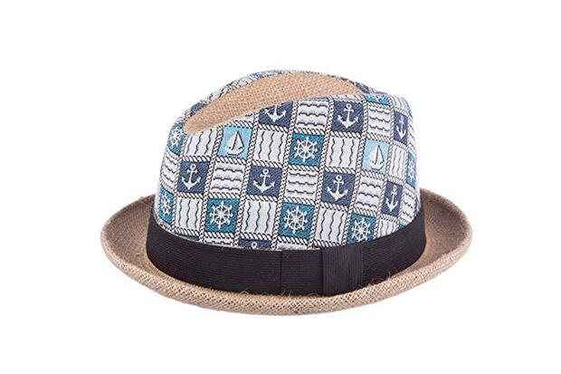 Hut mit Ankermuster