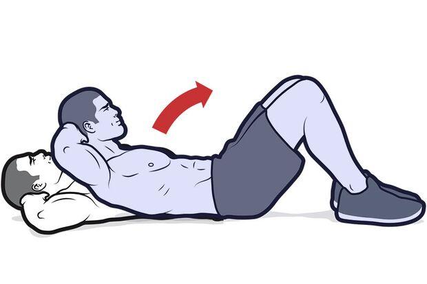 Im Gegensatz zu vielen anderen Bauchübungen sind Crunches sehr einfach zu erlernen