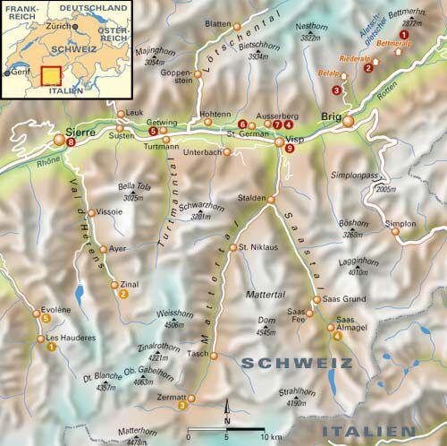 Im Wallis finden sich die meisten einfachen 4.000er