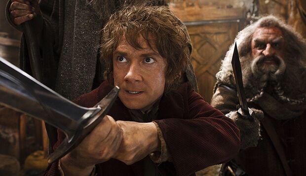 """Im zweiten Teil der """"Hobbit""""-Trilogie hetzt Regisseur Peter Jackson Hobbit Bilbo und 13 Zwerge im Dauerlauf quer durch die Fantasy-Welt Mittelerde"""