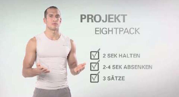 In unserer Video-Serie gibt's jede Woche ein Kurz-Workout für Ihre Bauchmuskeln. Dieses Mal müssen Sie hart arbeiten – Wir zeigen Ihnen drei Übungen fürs Eightpack