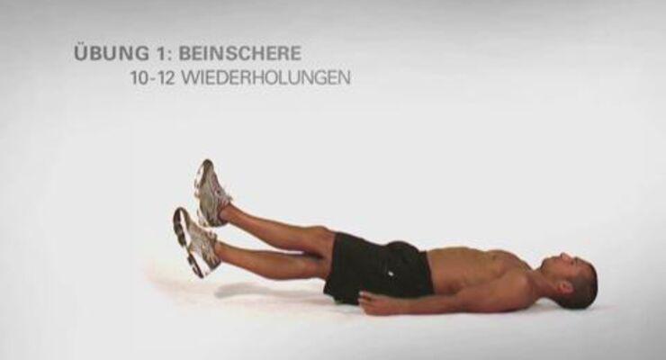 In unserer Video-Serie gibt's jede Woche ein Kurz-Workout nur für Ihre Körpermitte. Dieses Mal: Das Spezial-Training für die seitlichen Bauchmuskeln