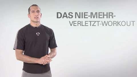 In unserer Video-Serie gibt's wöchentlich ein Kurz-Workout für Ihre Körpermitte. Diesmal stärken wir Ihren Bewegungsapparat, damit Sie Sportverletzungen vermeiden können