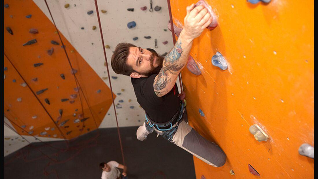 Indoor-Klettern im Fitness-Test