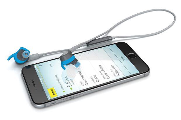 Jabra Sport Coach Wireless: Mit dem eingebauten Mikrofon können Sie während des Trainings sogar Telefonate führen