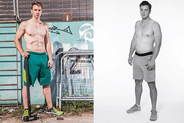 Jannis' Vorher-Nachher-Vergleich: In 8 Wochen mehr Muskeln und weniger Fett