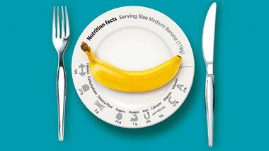 Jedes Lebensmittel hat einen individuellen Nährwerte und Kalorien