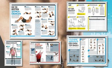 Jetzt downloaden: Alle Teile der Muskelbibel mit Workouts für Sixpack, Arme, Brust und Rücken
