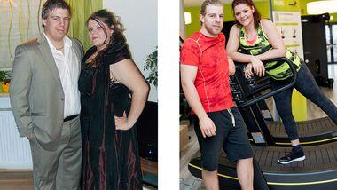 Jospeh hat 28 Kilo abgenommen, seine Frau Christina 57 Kilo