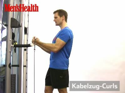 Kabelzug-Curls Trainingsvideo