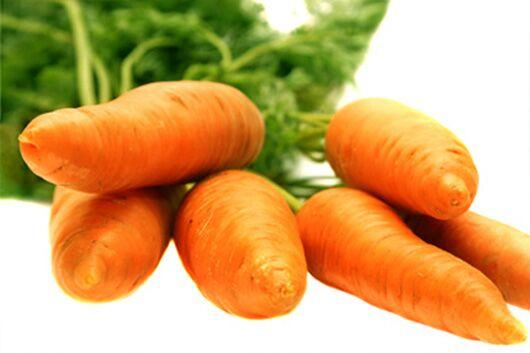 Karotten können bei verstopften Poren helfen