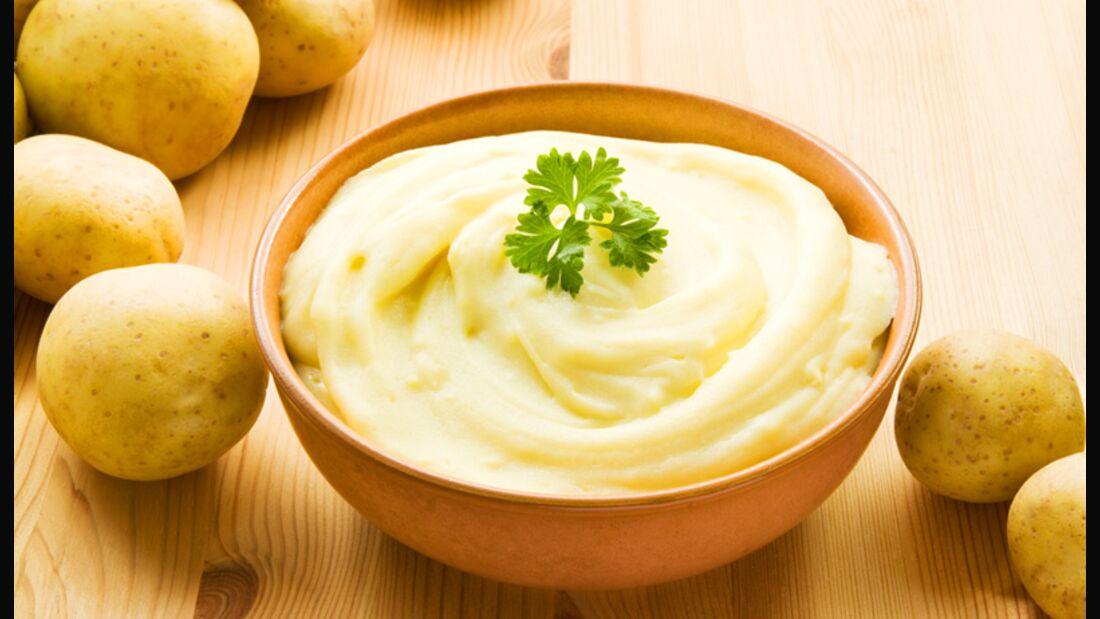 Kartoffelbrei enthält viele Kohlenhydrate, aber kein Fett