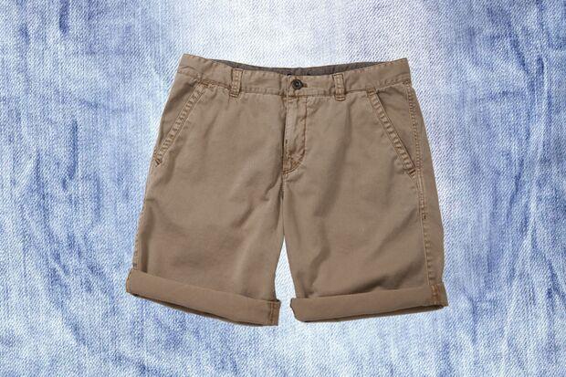 Khakifarbene Shorts von Marc O' Polo