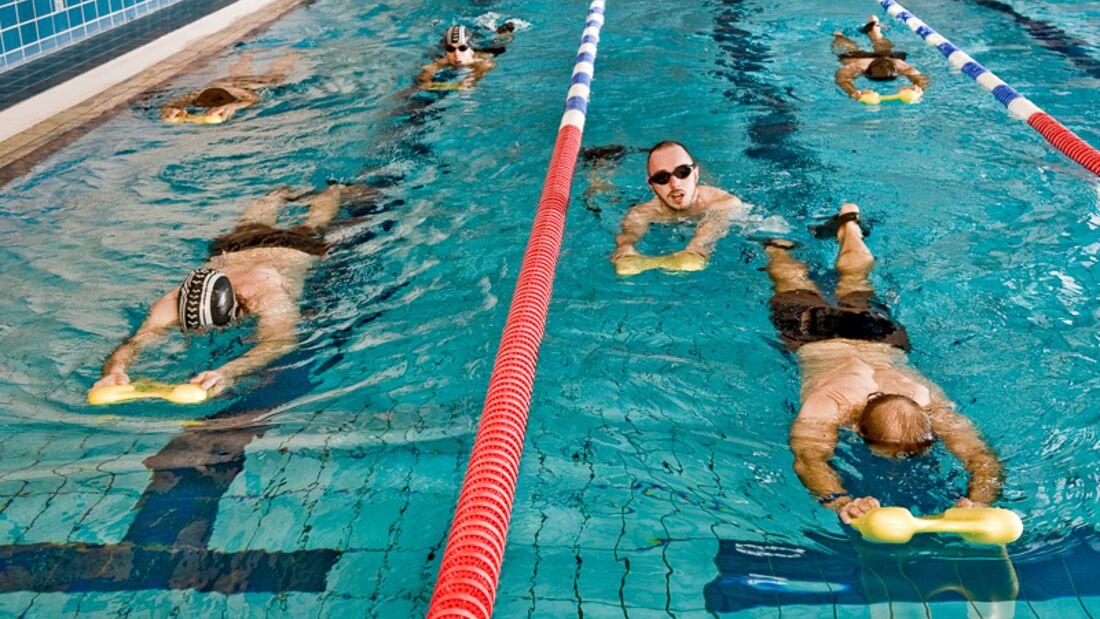 Schwimmroutine zur Gewichtsreduktion