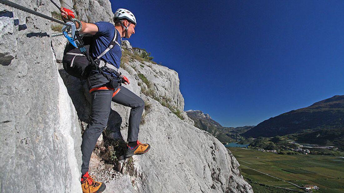 Klettersteige sind die sportlichen Überholspuren des Bergsteigens