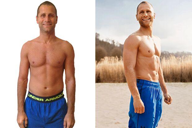 Lars hat sein Körperfett in 100 Tagen von 11,3 auf 5,1 % reduziert