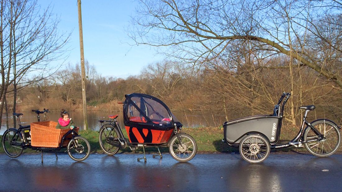 Lastenräder für Kinder im Fahrtest