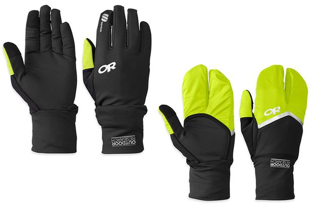 Laufhandschuhe: Hot Pursuit Convertible Running Gloves von Outdoor Research