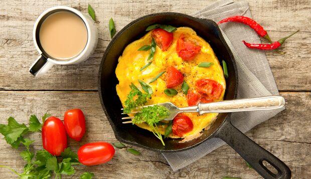 Lecker: Omelette am Morgen vertreibt Speck und andere Sorgen