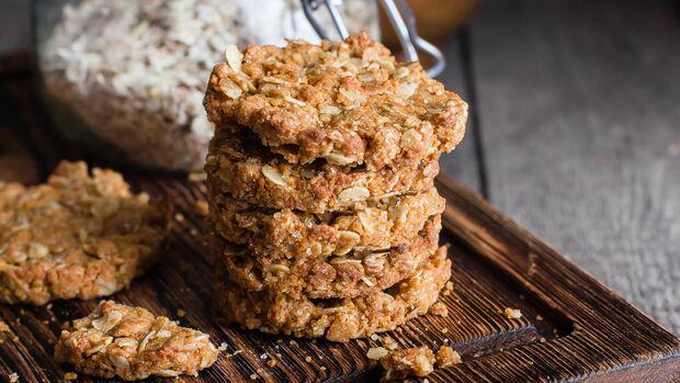 Leckere Kekse mit Haferflocken