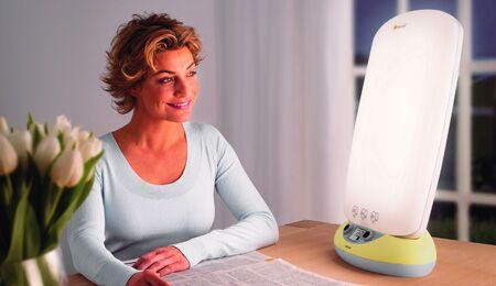 Lichttherapie: Die Augen können offen bleiben