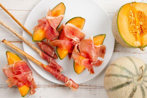 Luftgetrockneter Schinken mit Melone