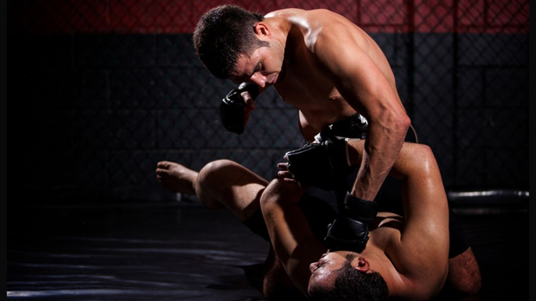 MMA-Fighter in Action