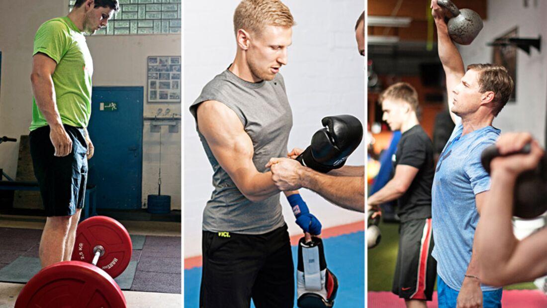 Männliche Fitnesskurse im Test