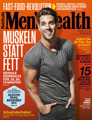 März-Ausgabe der Men's Health 2016