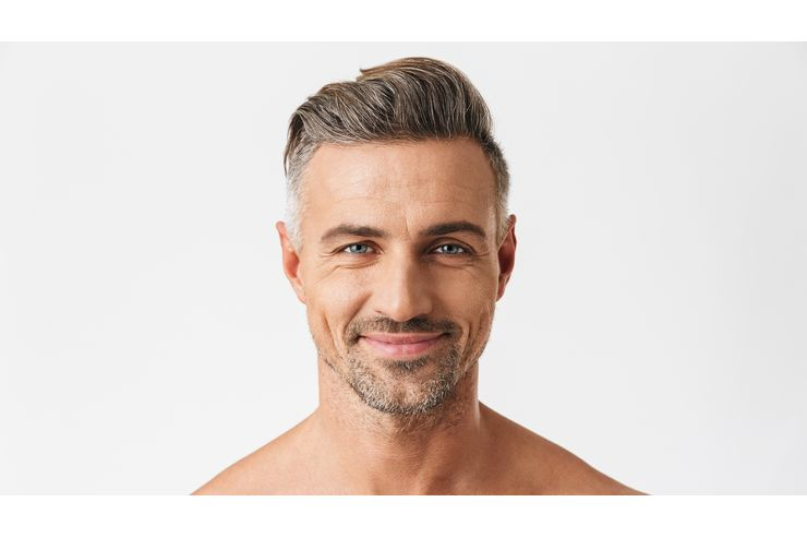 Haare färben mann grau