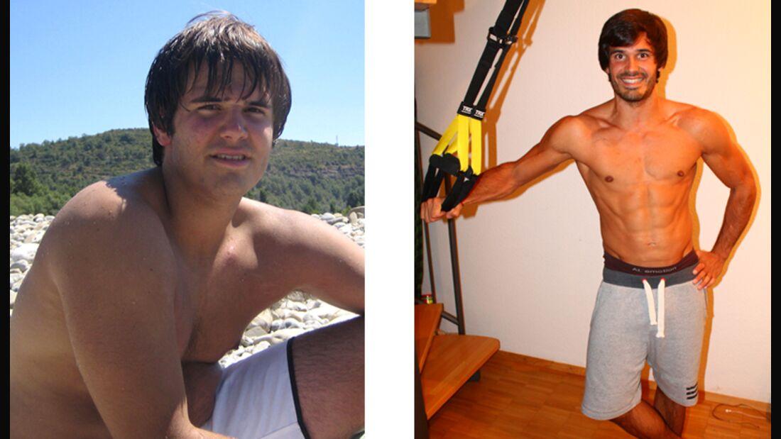Manuel hat 22 Kilo Fett abgenommen