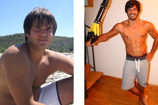 Manuel nahm 22 Kilo Fett ab und 6 Kilo Muskeln zu