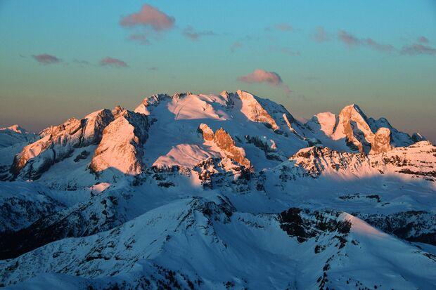 Marmolada bei Arabba in den Dolomiten, Italien
