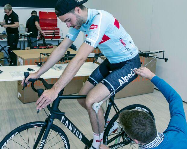 Max beim Alpecin Bikefitting