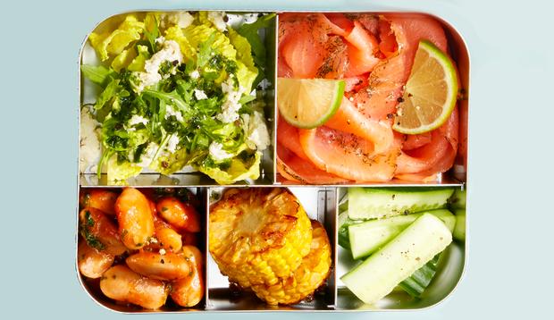 Meal-Prep mit Räucherlachs