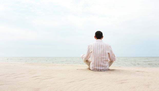 Meditieren beruhigt das Gehirn