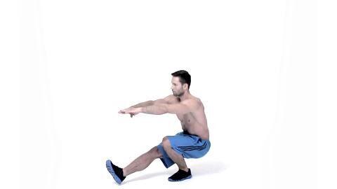 Men's-Health-4x4-Fatburning-Formel: Mit dem Abnehm-Workout für Profis machen Sie sich in nur 20 Minuten fit. Einbeinige Kniebeugen trainieren Ihre die Kraftausdauer Ihrer Beine.