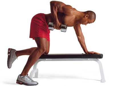 Men's Health Fitness-Lexikon – Rudern, einarmiges (einarmiges Kurzhantel-Rudern)