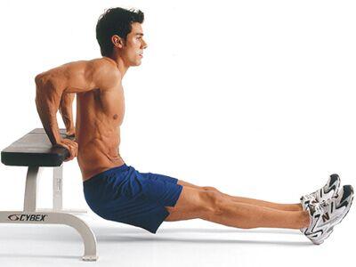 Men's Health Fitness-Lexikon – Trizeps-Dips (Dips)
