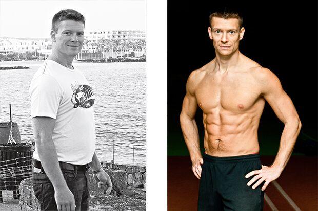 Michael hat abgenommen: Vorher wog er 91 Kilo und nachher 73 Kilo