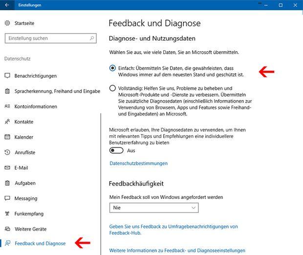 Microsofts Neugier nach privaten Nutzerdaten lässt sich bändigen