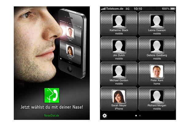 """Mit """"NoseDial"""" können Sie mit Ihrer Nase wählen"""