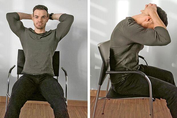 Mit dieser Übung dehnen Sie Ihren Nacken