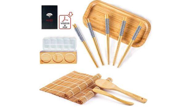 Mit einem Sushi-Set kannst du deine eigenen Makis, Rolls und Nigiris zubereiten