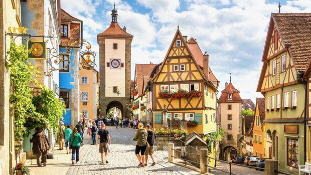 Mittelalterliches Flair gibt's in Rothenburg ob der Tauber