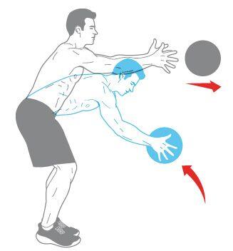 Muskel-Workout: Seitenwechsler