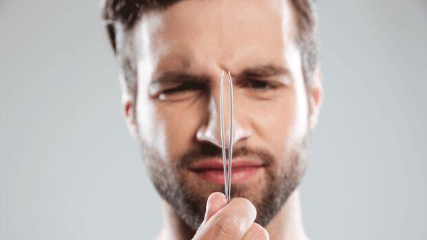 Nasenhaare solltest du niemals zupfen