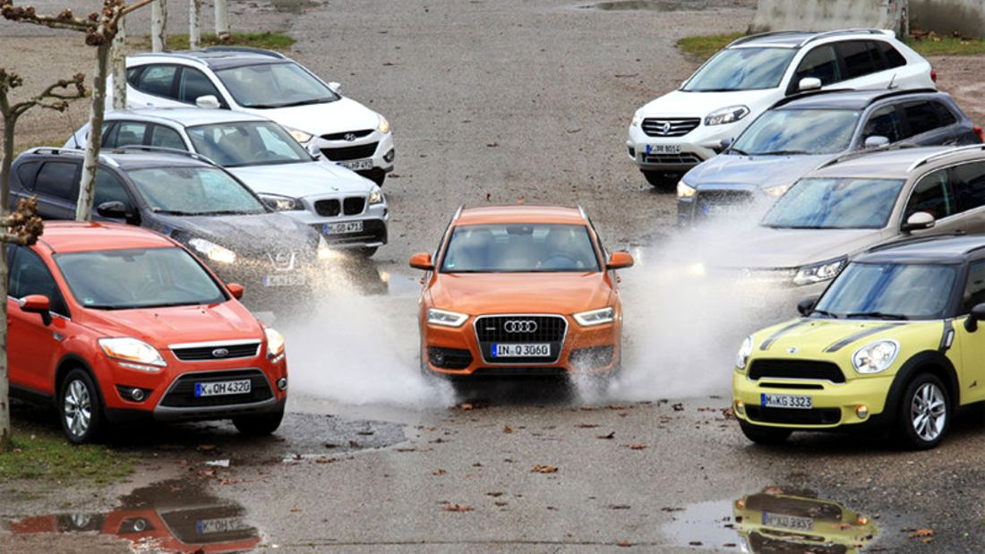 Neun kompakte SUV im Test